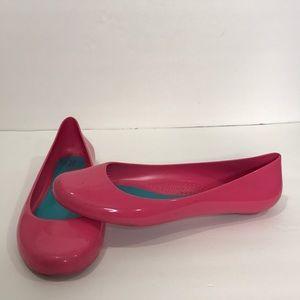 OKA b. Pink Shiny Ballet Flats Sz 9